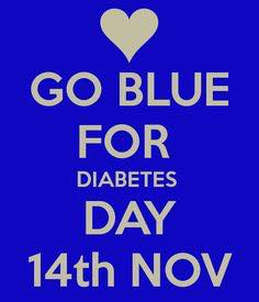 Go Blue for World Diabetes Day