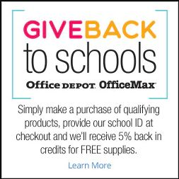 OFFICE DEPOT SCHOOL REWARDS! NHM ID #70213401