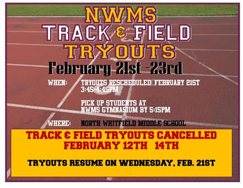 NWMS Track & Field Tryouts Cancelled