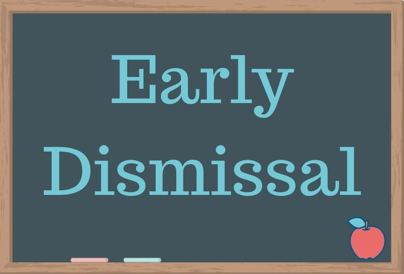 Early Dismissal @ 12:50 pm  October 23rd