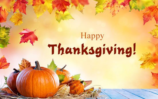 Thanksgiving Holidays November 25-29