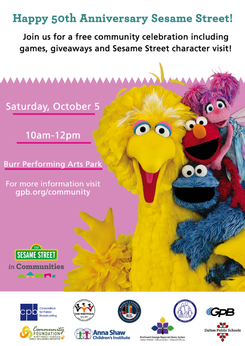 Sesame Street 50th Anniversary Invitation