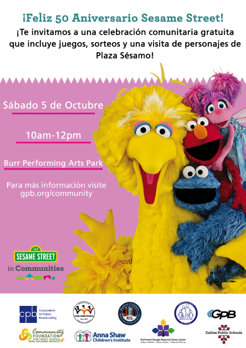Sesame Street's 50th Anniversary Invitation (Spanish)