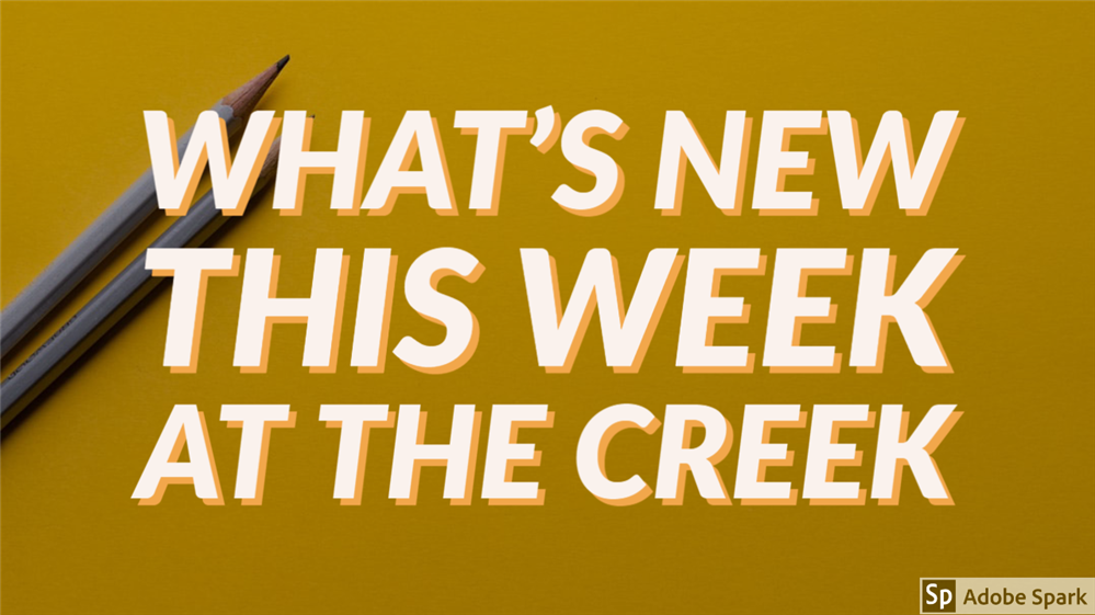 This Week at The Creek- Newsletter